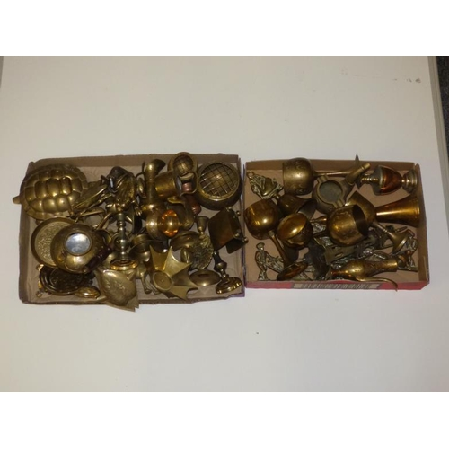 234 - Large selection of brass and other metal...