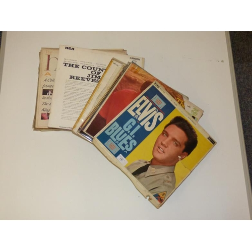 240 - Selection of vintage records including Elvis and Jim Reeves...