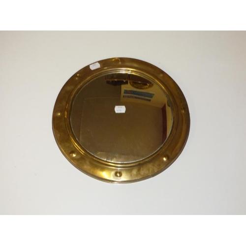 250 - Brass porthole mirror...