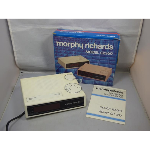 258 - Vintage Morphy Richards digital clock radio...