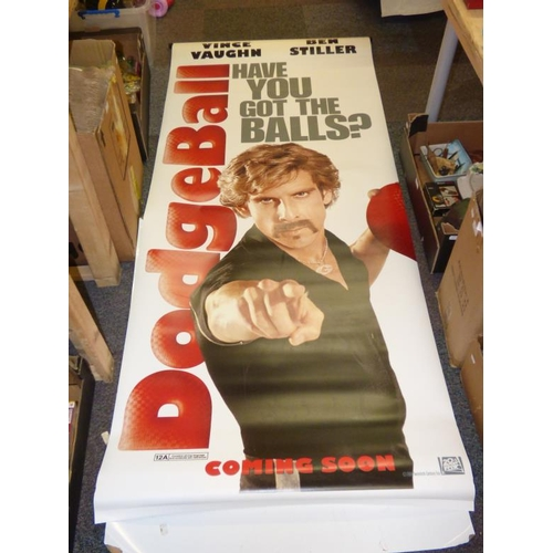 262 - Three vintage Movie posters of Dodge Ball staring Vince Vaughn and Ben Stiller...