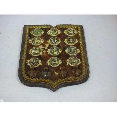 264 - Vintage zodiac plaque...