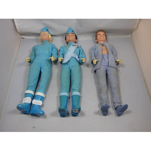 267 - Three Vintage Talking Thunderbirds Figures including two Carlton...