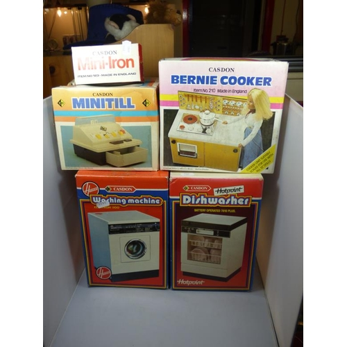 268 - Collection of Five Boxed Retro Casdon Toys including Two Dishwashers, Till and Other...