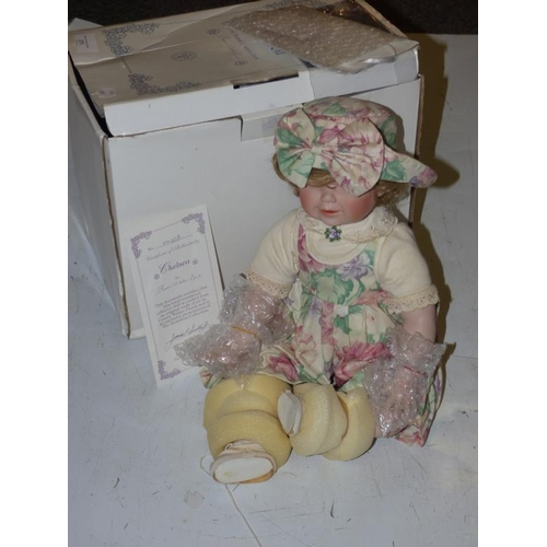 273 - Hamilton Collection Porcelean Doll entitled Chelsea complete with Original Box and Certificate of Au...