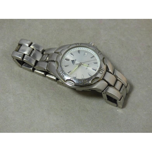 293 - Adidas 10ATM Stainless Steel Wristwatch...