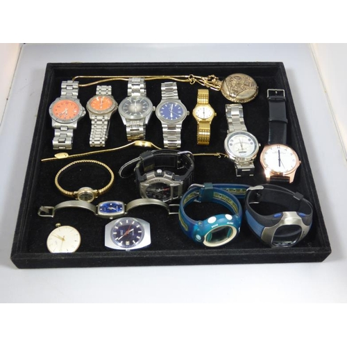 298 - Mixed Tray of Wrist Watches Marked  Sekonda, Ben Sherman, Royal and Marc Jacobs...