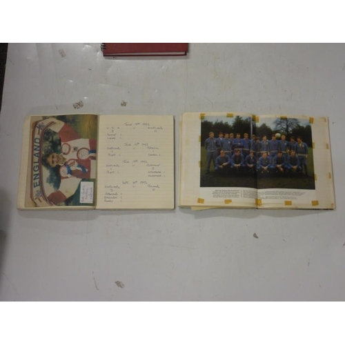 607 - Collection of Football and Dr Who scrap books...
