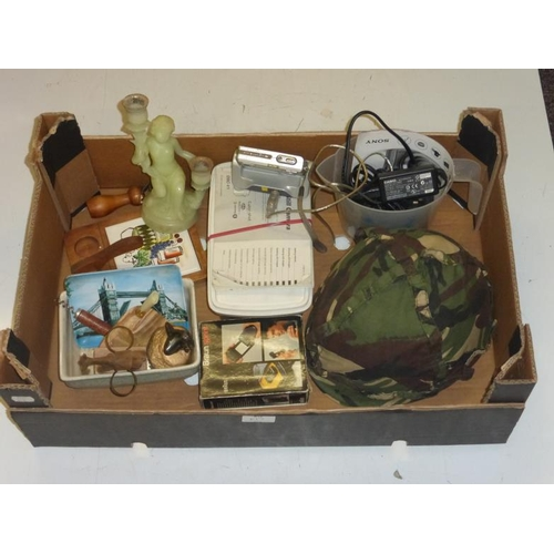 617 - Mixed lot including camouflage hard hat and other...