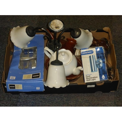 626 - Mixed lot includes Light, teapot and other...