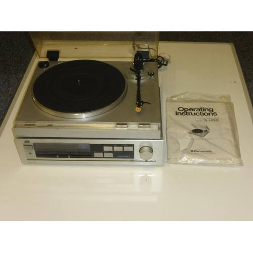 648 - JVC SL-H302 Automatic Turntable and JVC A-X30 Intergrated Amplifier...