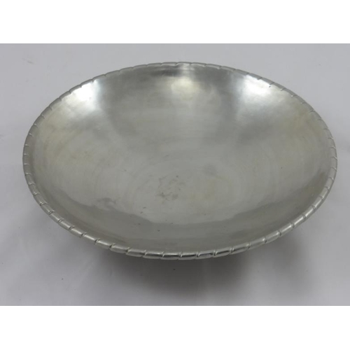1 - Arts and Crafts Keswick School Staybrite Planished Bowl of Circular Form (22cm)...