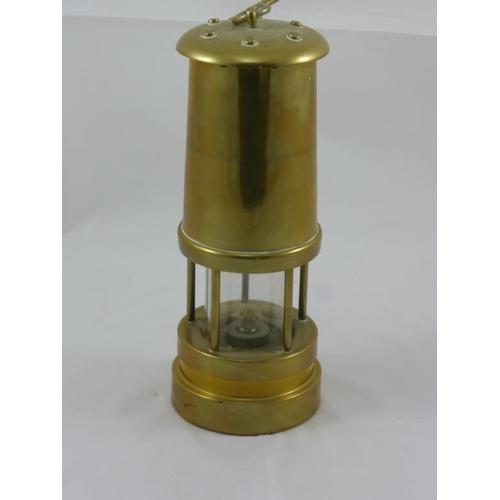 3 - Heavy brass Davy Lamp/Miners lamp...