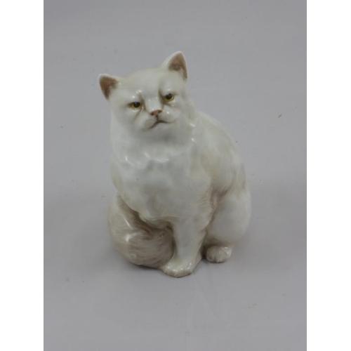 7 - Rare Royal Doulton White Persian Cat HN2539