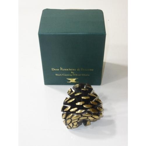 21 - Brass pine cone door knocker