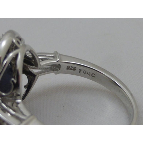 55 - Sterling Silver Stoned Ring