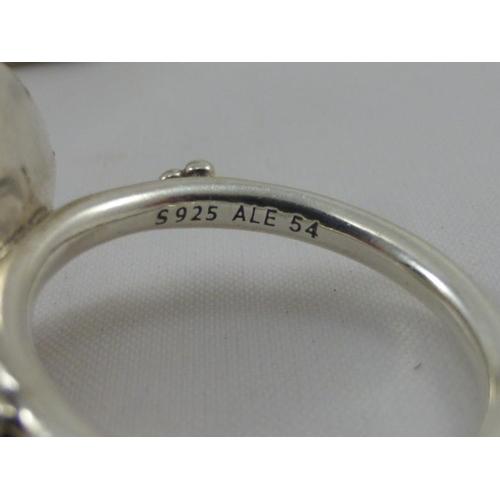1d73c69fc 89 - Pandora Silver ring marked S925 ALE 54 in Pandora box.