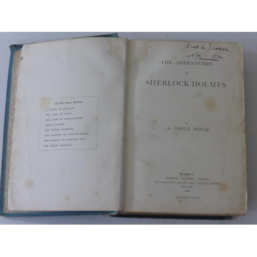 1 - First Edition of The Adventures of Sherlock Holmes by Doyle (Arthur Conan, Sir). with 'Violent' p317...
