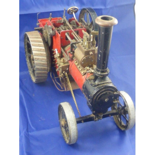 1 - A well engineered and almost completed model of a 1 inch scale 'Minnie' agricultural traction engine...