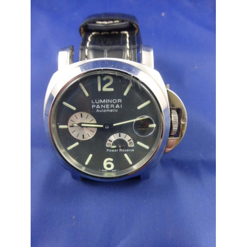 13 - Luminor Panerai Automatic Gents Watch with Leather Strap...