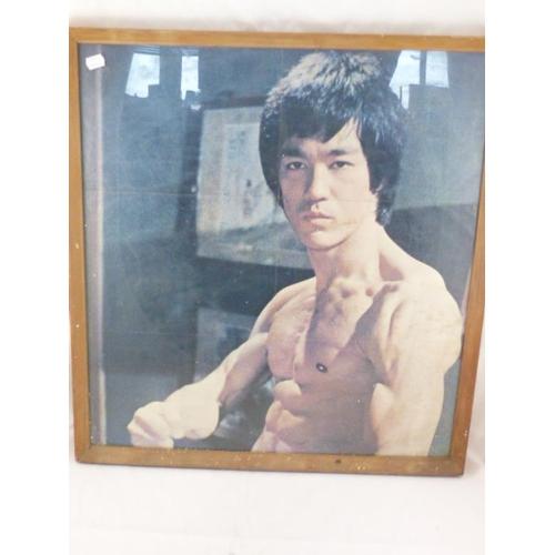 2 - Vintage Framed Print of Bruce Lee 62cm x66cm...