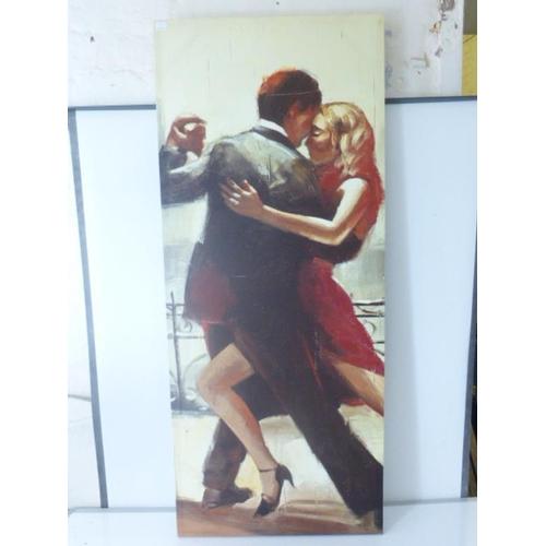 3 - Contemporary Canvass on Block Depicting Dancing Scene (200cm x 50cm)...