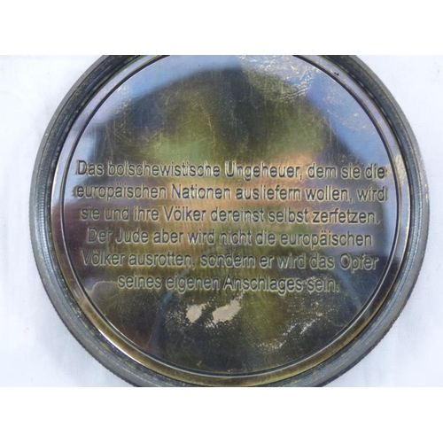 1 - Vintage compass with German Markings and inscription of one of Adolf Hitlers speeches...