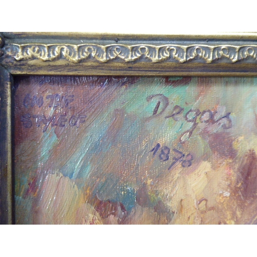 19 - Original Gilt Framed Oil on Board depicting L'Floile by Edgar Degas...