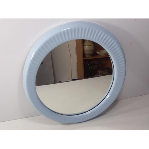 20 - Retro Vintage Light Blue Wall Hanging Mirror 20
