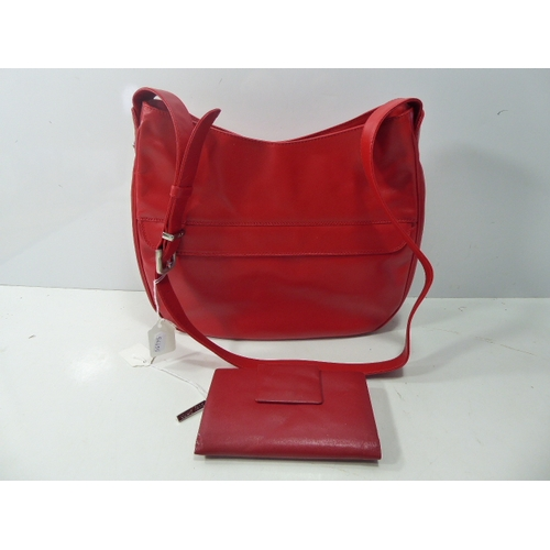 23 - Enny Red Leather Ladies Bag and Suzy Smith Purse...