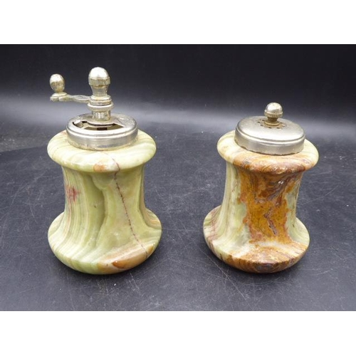43 - Marble coffee grinder with Marble pepper pot...