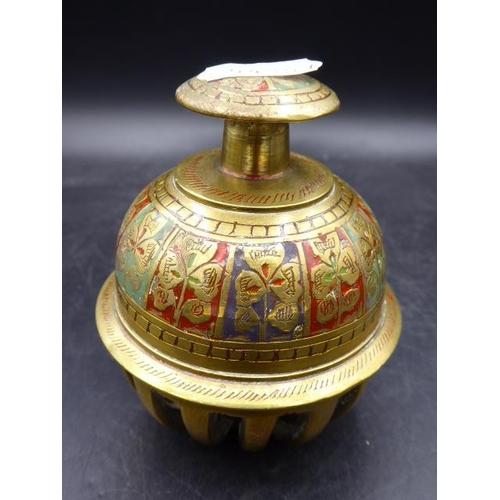 50 - Vintage Brass Elephant Tibetan Temple Claw Bell Buddhist Monk Prayer Bell 0.4 KG 3.5