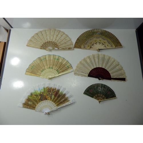 55 - Selection of 6 Decorative Hand Fan's...