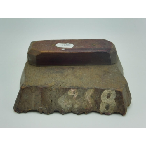 5 - Vintage Wood Block Arts and Crafts Printing Block...