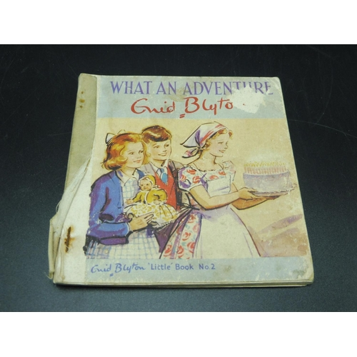 6 - Enid Blyton what and Adventure Little book no 2 with Her Portrait on back page...
