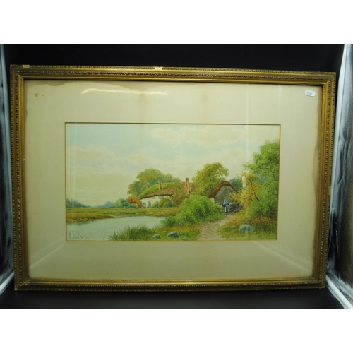 9 - Henry Hilton Framed and Glazed Watercolour depicting Country Scene...