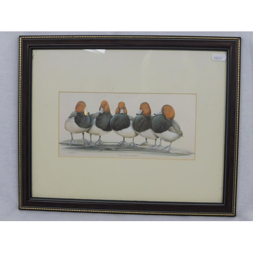 16 - Two Signed Framed and Glazed Prints Depicting Ducks...