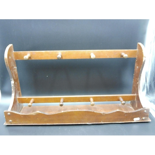 17 - Wall Mounted Wooden Pan Holder (25