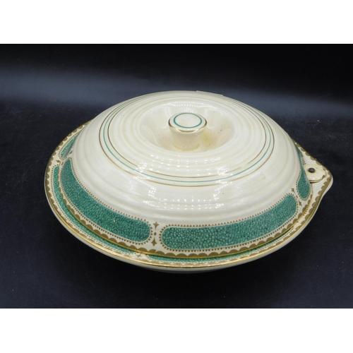 23 - Vintage Ribstone ware Booths Plate warmer...