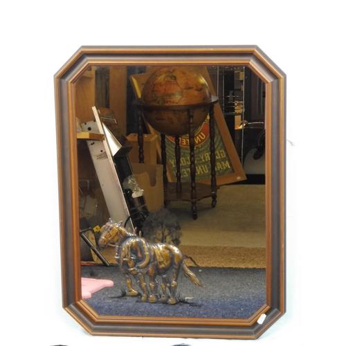 35 - Shire Horse themed Hexagonal Wall Mirror (26