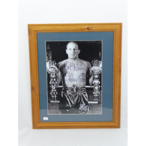 36 - Framed Picture of Heavy Weight Henry Cooper...