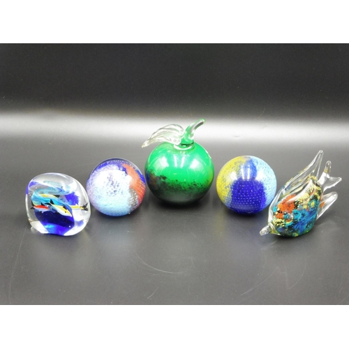 37 - Collection of Paper Weights to include F&C Polish Hand made...