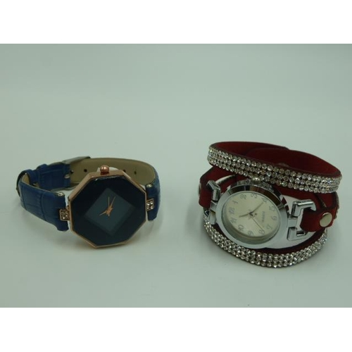 21 - Two New Ladies Watches including Jewelled and Facaceted...