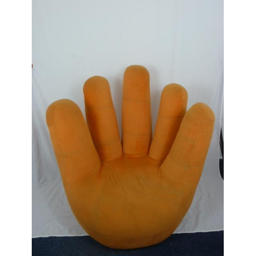 24 - Beautiful funky hand shape chair In Orange...
