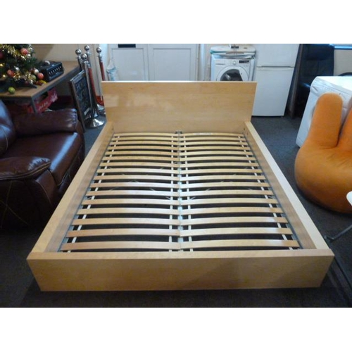 39 - IKEA Double Bed with Slats and fittings External Diameter 210cm x 176cm (83