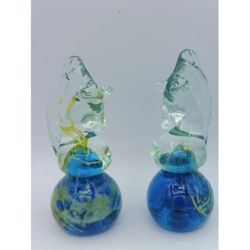 9 - Two M'Dina Glass Seahorses and Other...