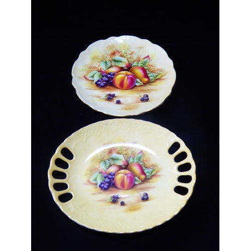 13 - Aynsley Orchard Gold Plate (21cm) and Bowl (23cm)...