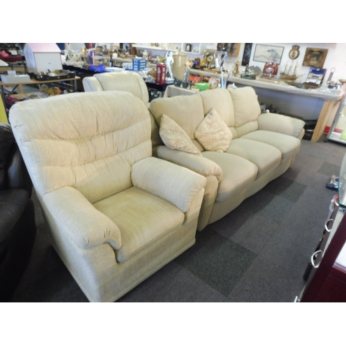 470 - G PLan Fabric Chair and a Three Seater sofa...