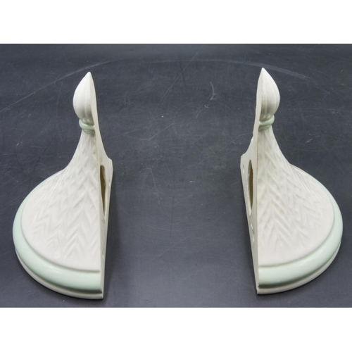 13 - Pair of Ceramic Wall Scones...