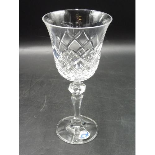 19 - Set of 6 Bohemia Crystal Wine Glasses...